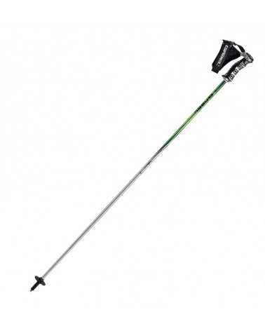 Silvester Green Gabel ski poles with aluminum handrails wrap around