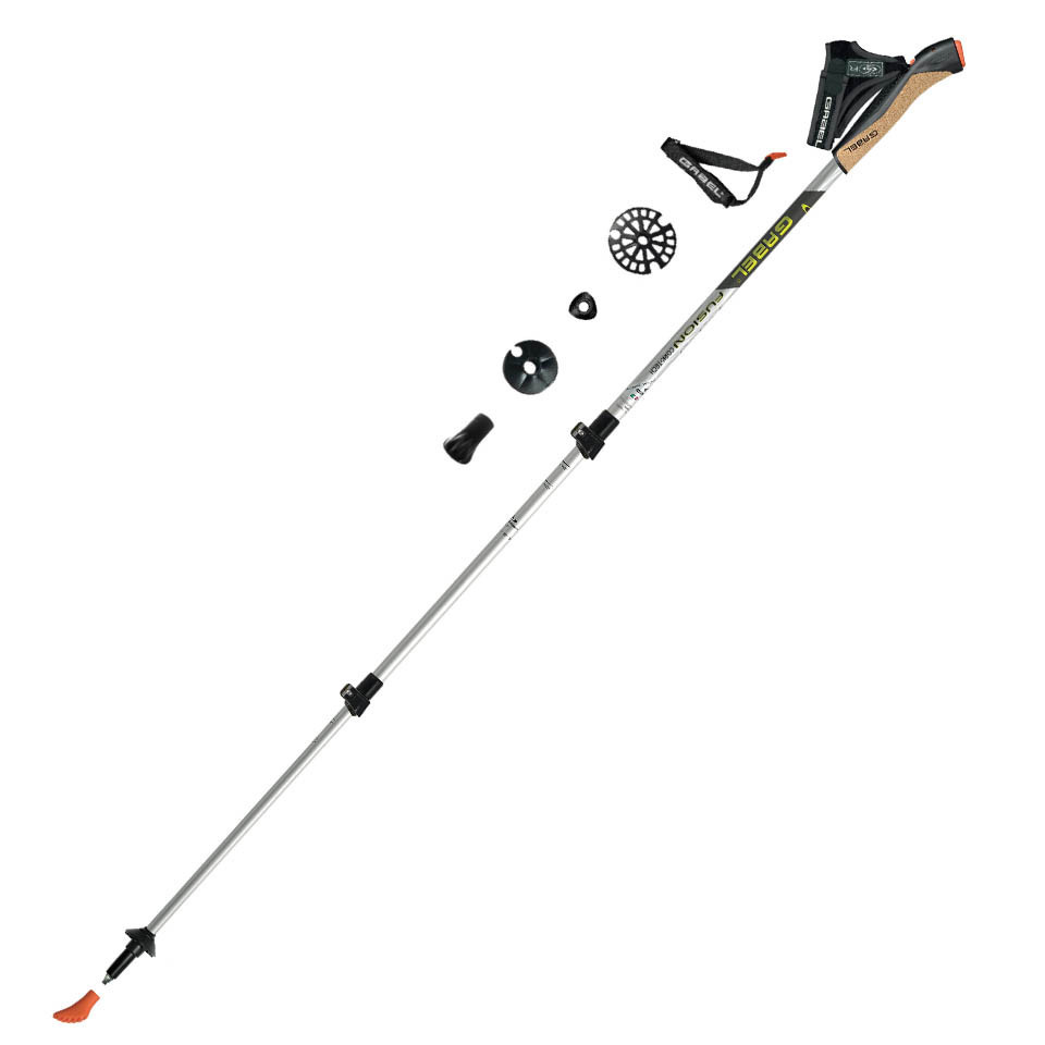 FUSION CORK TECH - Gabel telescopic poles for nordic walking, trekking,  skitouring, backcountry