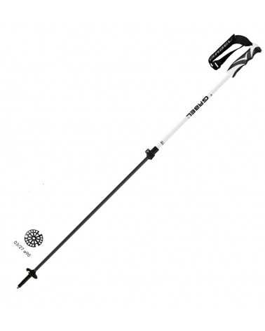 X-CURSION VARIO F.L. CARBON - Gabel telescopic ski poles for alpine touring and freeride