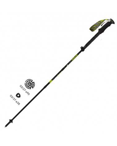FR-5 FL LITE XTL - Gabel foldable poles for alpine touring and trekking