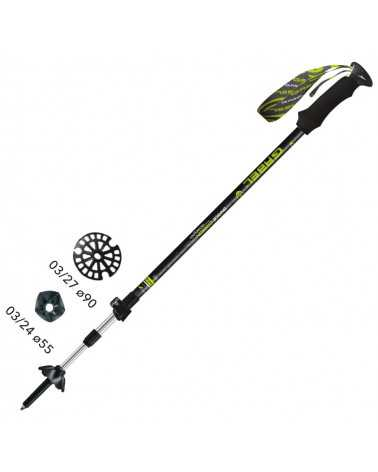 ESCAPE CARBON  XT F.L. A.I. Bastoncini Gabel da Trekking, Snow Shoes, Alpine Ski, Back Country