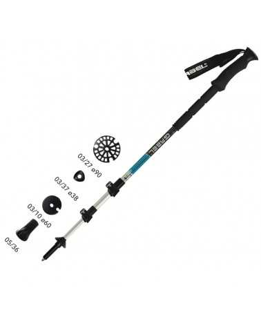 DISCOVERY XT F.L. - Gabel poles for alpine skiing, skitouring, snowshoeing, back country, trekking, trail running