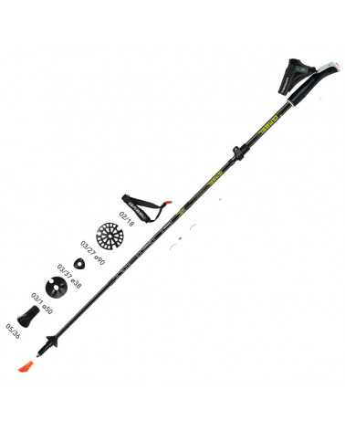 FUSION WIRED - Bastoncini ripiegabili Gabel per nordic walking, trekking, scialpinismo, backcountry