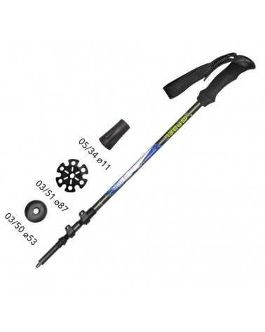 VERTIGO LITE F.L. XTL BLUE Sticks Gabel for Trekking, Snow Shoes, Alpine Touring, Alpine Ski, Back Country