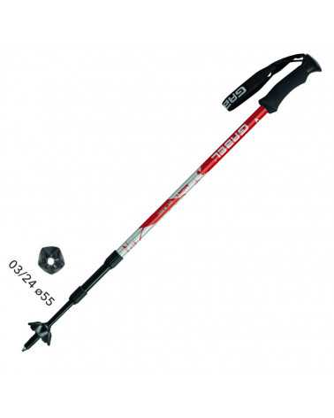 MONT BLANC RED Bastoncini Gabel da Trekking, Snow Shoes, Alpine Ski