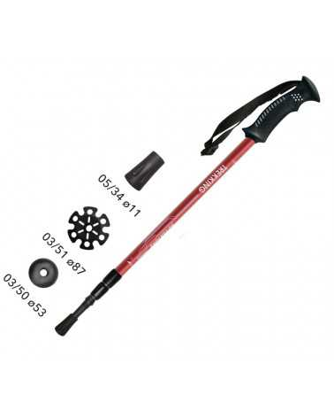 Mountain Adventure Red Gabel trekking poles
