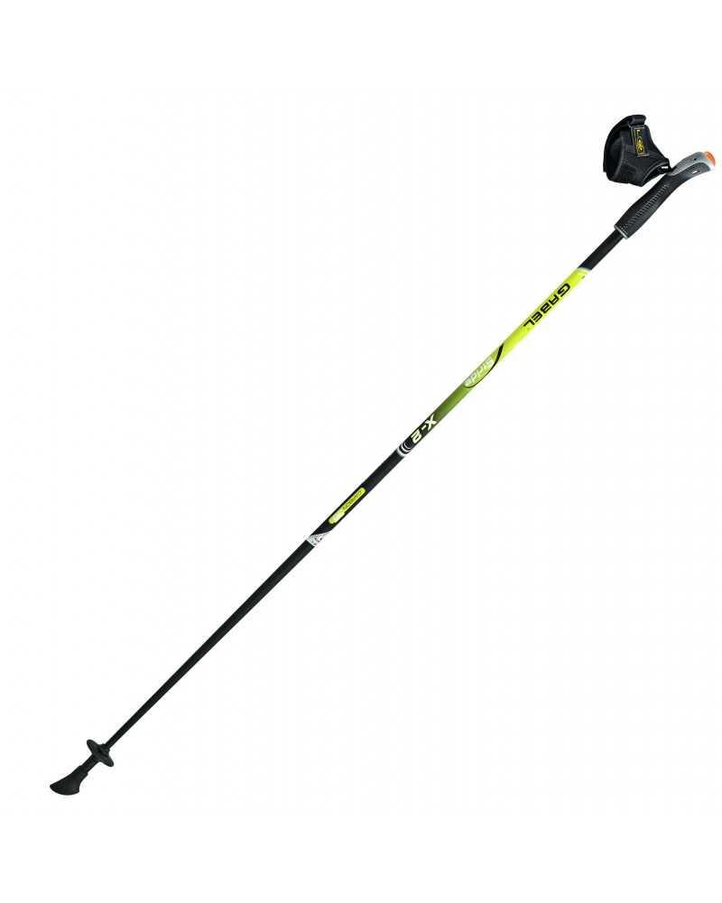 X-2 Yellow Bastoncini Gabel da nordic walking in carbonio