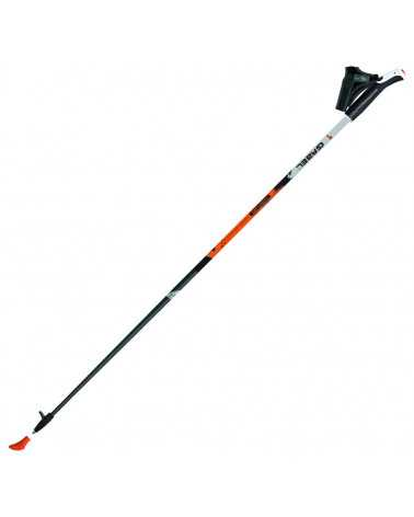 X-1.35 - Bastones de carbono Gabel para nordic walking NEGRO/NARANJA