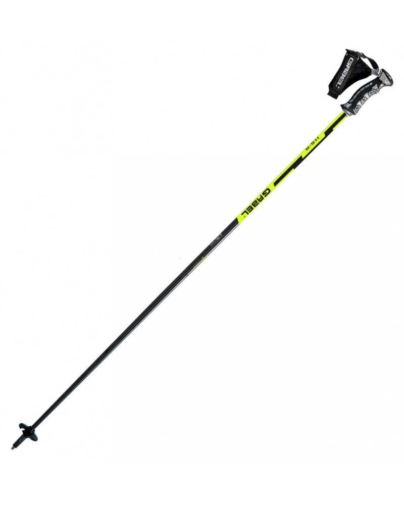 Gabel HS-R Yellow ski poles with Click 3d strap