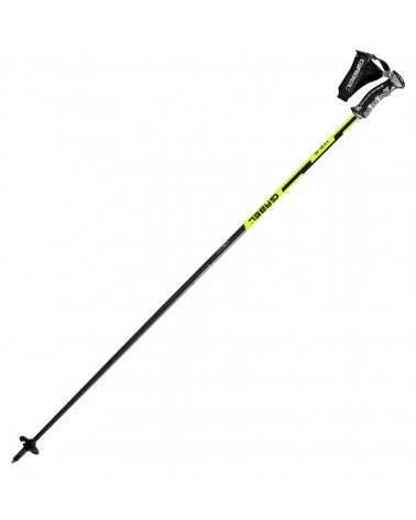 Gabel HS-R Yellow ski poles with Click 3d strap