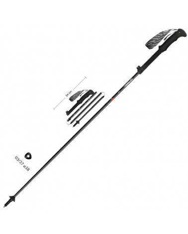 IBEX XTS - Gabel telescopic poles in Snake Carbon for mountaineering and trekking (small size)