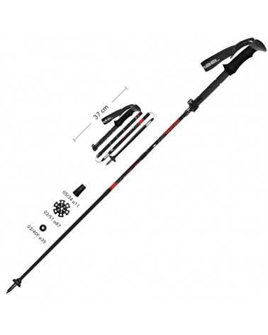 FR-3 EF - Gabel ultra-compact foldable poles for trekking and skitouring