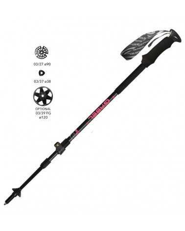 Escape Carbon Tour Lite F.L.  - Gabel telescopic poles for trekking and skitouring (ladies version)