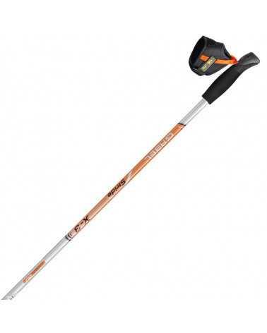 X-3 Silver Orange Nordic Walking poles Gabel line Performance