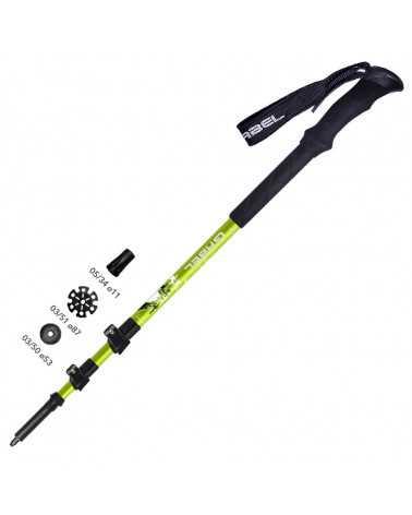X-ALP TOUR - TECH LIME - Gabel telescopic poles for trekking and skitouring