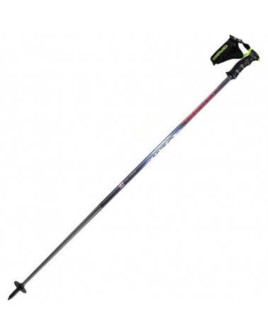 SLX Silver Gabel ski poles of aluminum oval-shaped