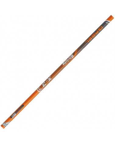 X-3-Orange-stocke Gabel Nordic Walking Carbon